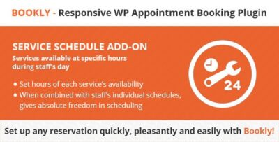 Bookly Service Schedule (Add On)
