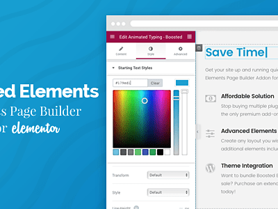 Boosted Elements – WordPress Page Builder Add On For Elementor