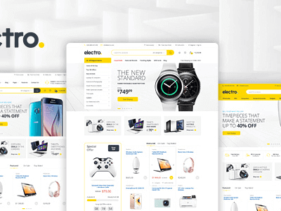 Electro Electronics Store WooCommerce Wordpress Theme