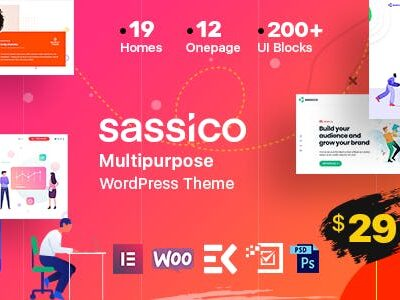 Sassico Multipurpose Saas Startup Agency WordPress Theme