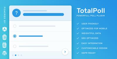 TotalPoll Pro Responsive WordPress Poll Plugin