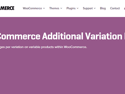 Woocommerce Additional Variation Images