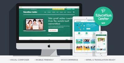 Education Center LMS Online University & School Courses Studying WordPress Theme