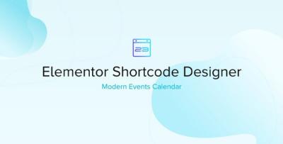 Elementor Shortcode Designer For Modern Events Calendar