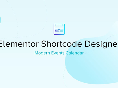 Elementor Shortcode Designer For Modern Events Calendar