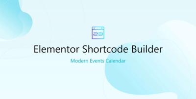 Elementor Shortcode Modern Events Calendar