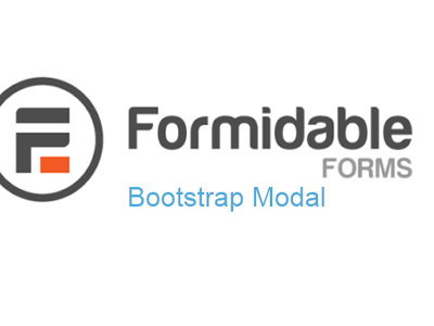 Formidable Forms Bootstrap Modal Addon