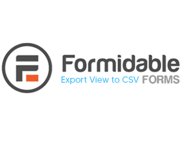 Formidable Forms Export View To CSV Addon