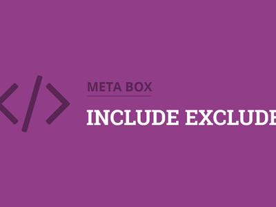 Meta Box Include Exclude