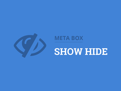 Meta Box Show Hide Plugin