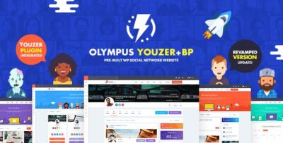 Olympus Powerful BuddyPress Theme For Social Networking