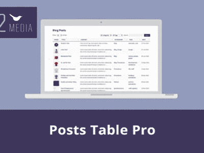 Post Table Pro Wordpress Plugin