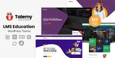 Talemy LMS Education WordPress Theme