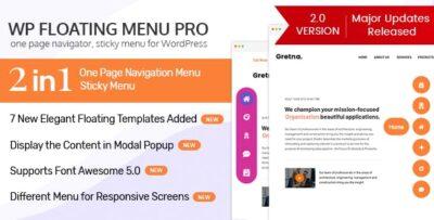 WP Floating Menu Pro One Page Navigator, Sticky Menu For WordPress