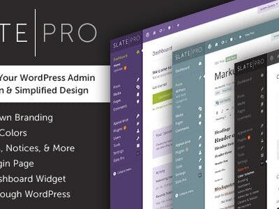 WordPress Admin Theme & White Label Slate Pro