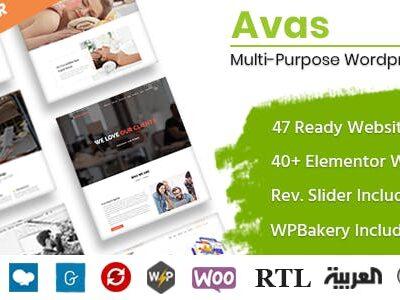Avas Multi Purpose WordPress Theme