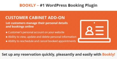 Bookly Pro Customer Cabinet Add On