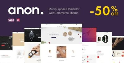 Anon Multipurpose Elementor WooCommerce Themes