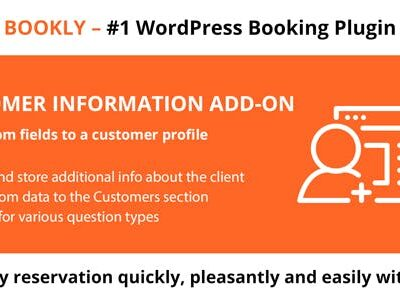 Bookly Customer Information (Add On)