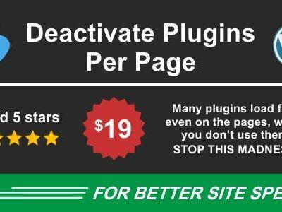 Deactivate Plugins Per Page