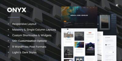 Onyx Responsive WordPress Blog Theme
