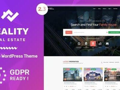 Reality Estate Multipurpose WordPress Theme