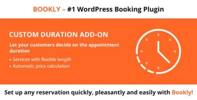 Bookly Custom Duration (Add On)