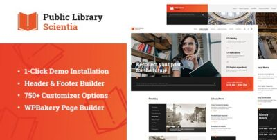 Scientia Public Library & Book Store Theme