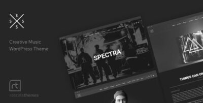 Spectra Music Theme For WordPress