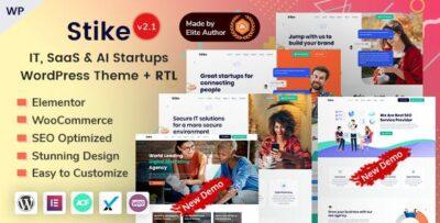 Stike Elementor IT Startups WordPress Theme