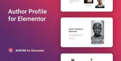 Avatar – Author Box For Elementor