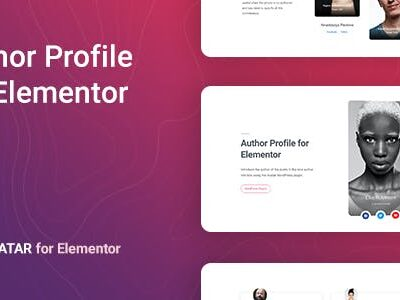 Avatar – Author Box For Elementor