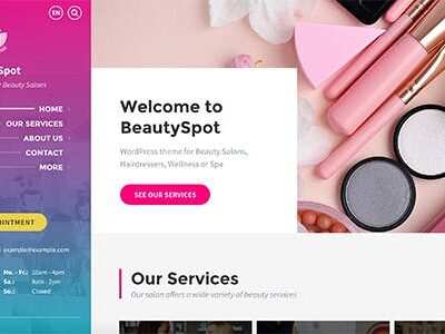 BeautySpot Beauty Salon WordPress Theme