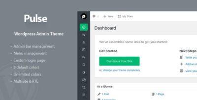 Pulse WordPress Admin Theme