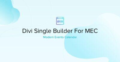 Mec Divi Single Builder