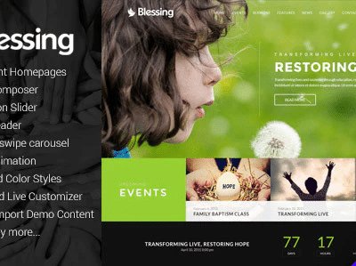 Blessing Responsive WordPress Theme For Church Websites