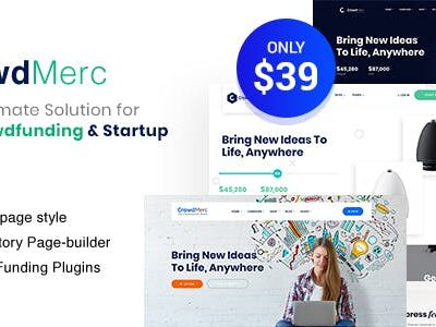 Crowdmerc Crowdfunding Startup Fundraising WordPress Theme