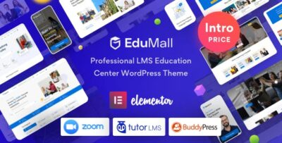 EduMall Professional LMS Education Center WordPress Theme