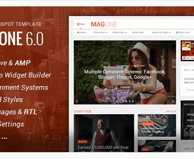 MagOne Responsive News & Magazine Blogger Template