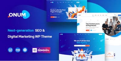 Onum SEO & Marketing Elementor WordPress Theme