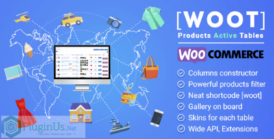 WOOT WooCommerce Products Tables Professional