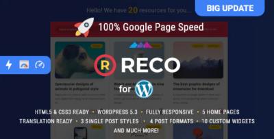 Reco - Minimal Theme for Freebies