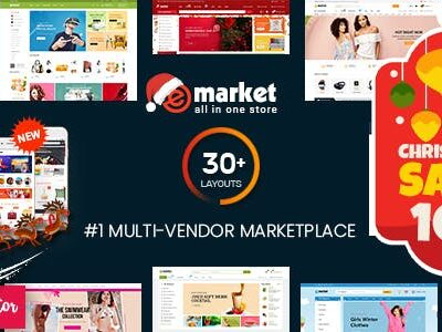 EMarket Multi Vendor MarketPlace Elementor WordPress Theme